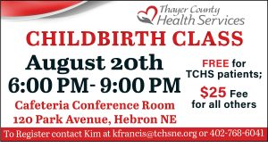 Childbirth Education Class @ Thayer County Health Services: Cafeteria Conference Room