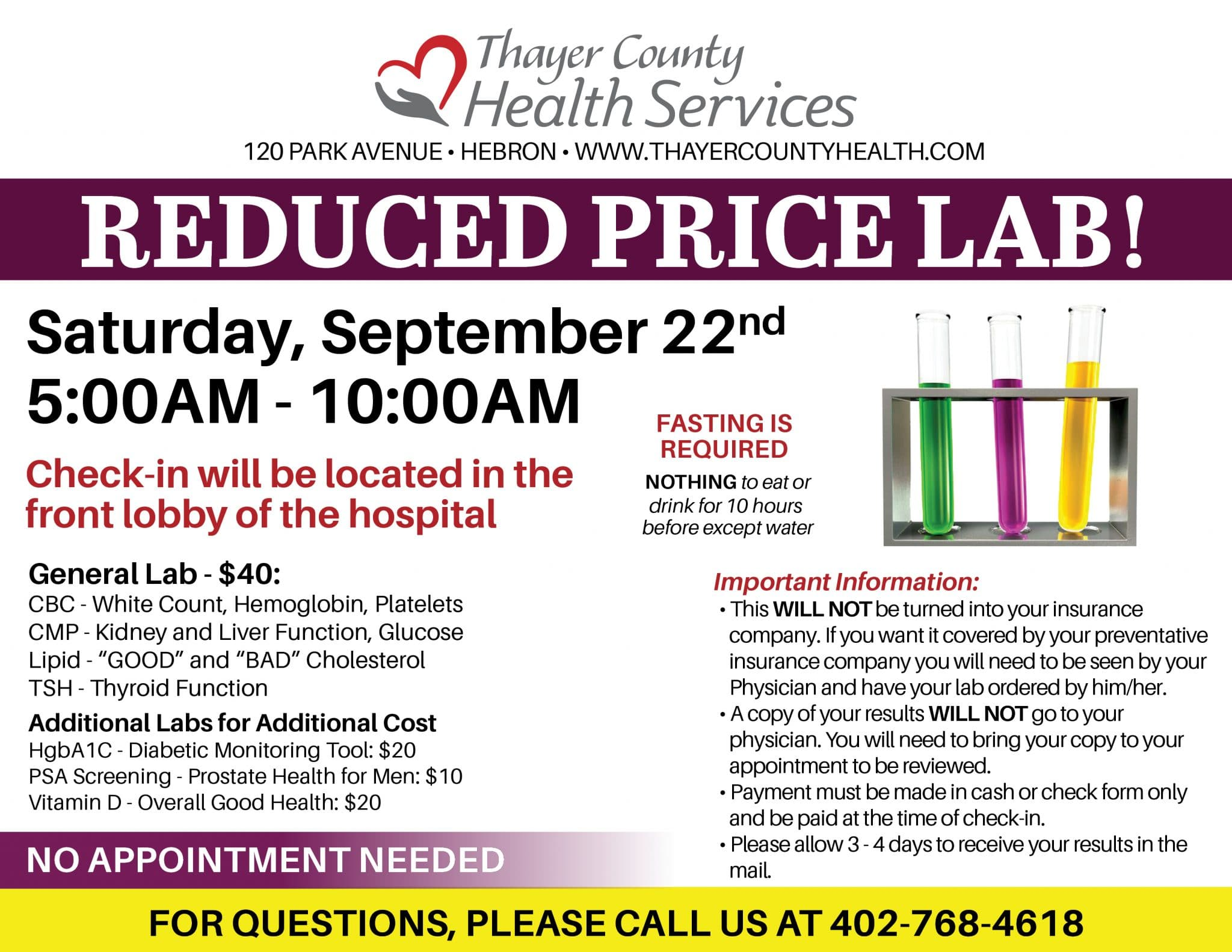 Fall 2018 Reduced Price Lab Event