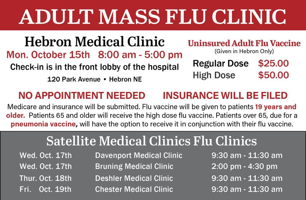 Adult Mass Flu Clinic - Hebron