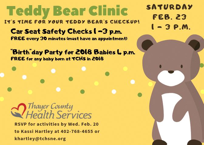 Teddy Bear Clinic @ Thayer County Health Services