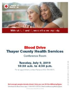 Red Cross Blood Drive @ Thayer County Health Services: Cafeteria Conference Room