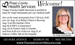 Dr. Karbowski Meet and Greet - Hebron @ Thayer County Health Services: Cafeteria Conference Room