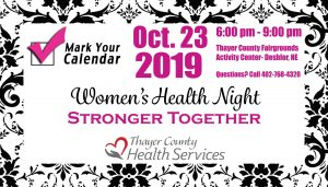 Women's Health Night - Stronger Together @ Thayer County Fairgrounds Activity Center