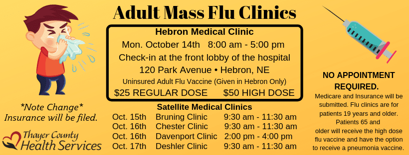 Join us for our Mass Flu Clinic in October!