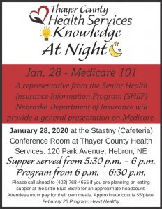Knowledge at Night @ Thayer County Health Services: Stastny (Cafeteria) Conference Room