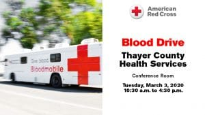 Red Cross Blood Drive @ Thayer County Health Services: Stastny (Cafeteria) Conference Room