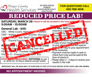 CANCELLED: Reduced Price Lab