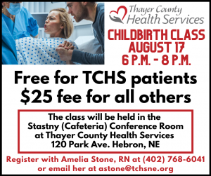Childbirth Education Class @ Thayer County Health Services Stastny (Cafeteria) Conference Room