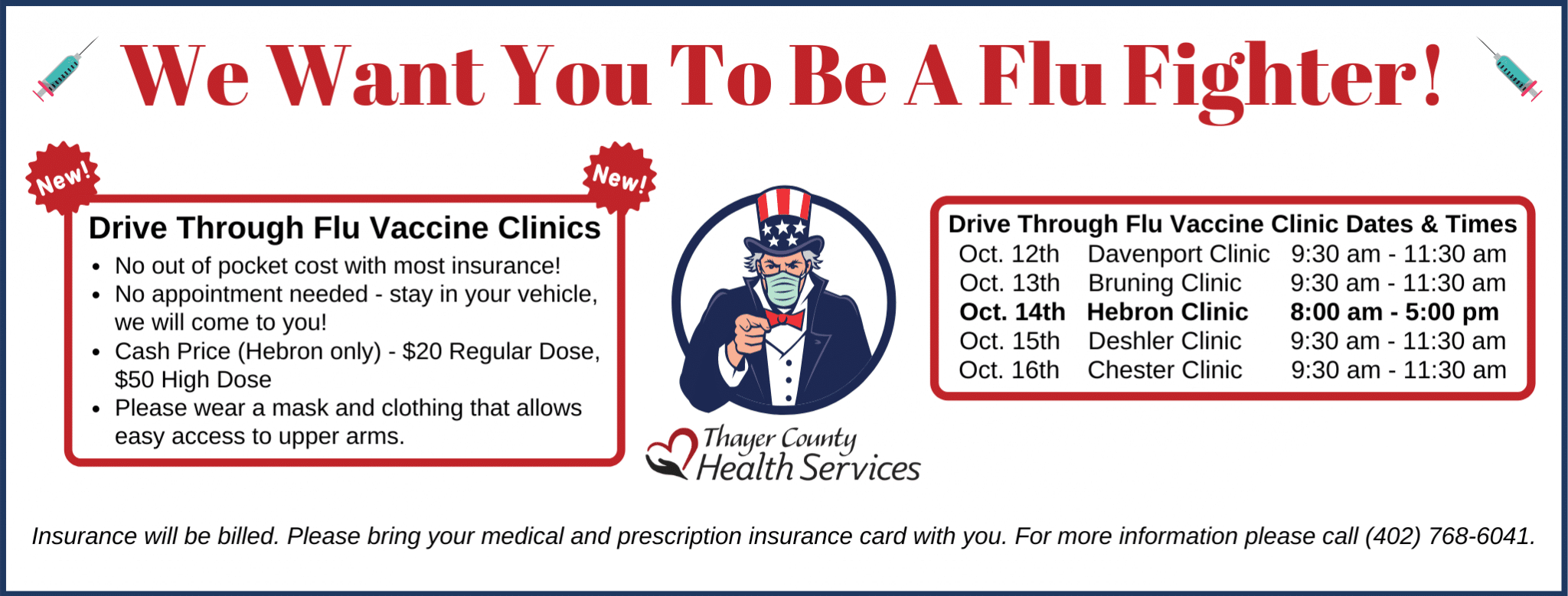 Drive Through Flu Clinic