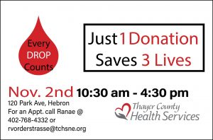 Red Cross Blood Drive - Critical Need @ Thayer County Health Services