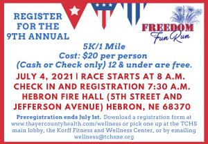 Fun Run - 4th of July in Hebron @ Fun Run